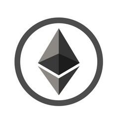 Ethereum sign flat icon for internet money vector