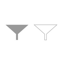 filter or funnel grey set icon vector image
