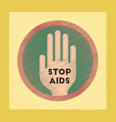 flat shading style icon stop aids symbol vector image