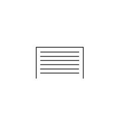 Garage line icon vector