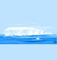 Giant iceberg broke off antarctica vector