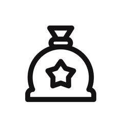 gift sack icon vector image