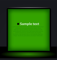Green light box vector