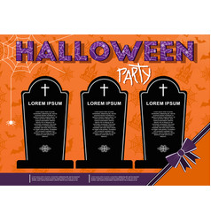 halloween party poster template ghosts and vector image