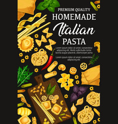 Homemade italian pasta and herbs vector