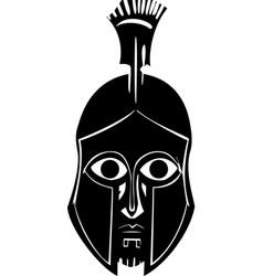 Hoplite in greek helmet vector