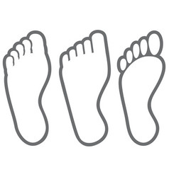human foot thin line icons vector image