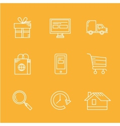 Internet Shopping Icon Set e-commerce vector image