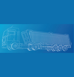 Isometric representing truck or tractor vector