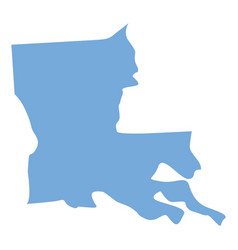 Louisiana state map vector