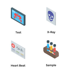 Medical care isometric pack vector