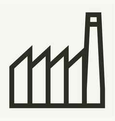 minimal industrial buildings outline icon vector image