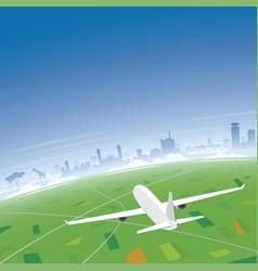Nairobi skyline flight destination vector