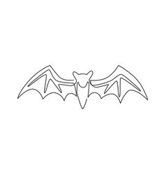One single line drawing wild bat for company vector