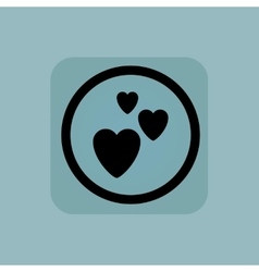 Pale blue love sign vector image