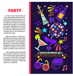 Party poster for birthday celebration or disco vector