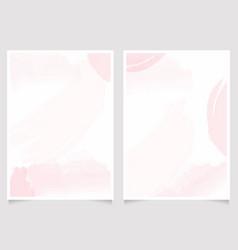 pink watercolor wash splash 5x7 invitation card vector image