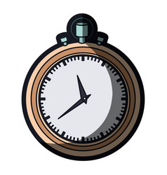 realistic color graphic of stopwatch with thick vector image