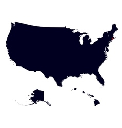 rhode island state in united states map vector image