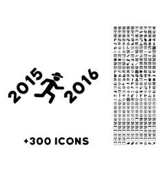 Run To 2016 Year Icon vector