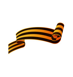 Russian victory day ribbon asymmetric rolled end vector