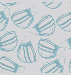 seamless background with a medical mask vector image