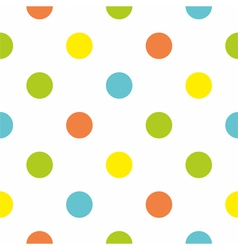 Seamless background with big colorful polka dots vector