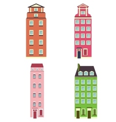 set of color house vector image