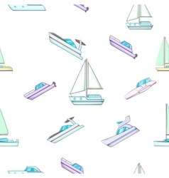Ship pattern cartoon style vector