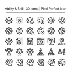 skillability line icon vector image