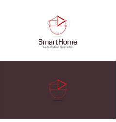 Smart automated home logo and icon vector