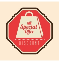 Special offer discount retro label vector