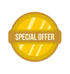 Special offer label icon flat style vector
