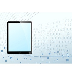 Tablet looking device technology background vector