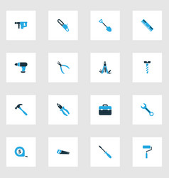 Tools colorful icons set collection of hammer vector