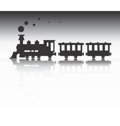 Train silhouette vector image