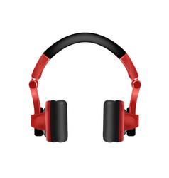 trendy youth wireless red headphones vector image
