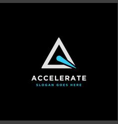 Triangle accelerate logo icon template vector