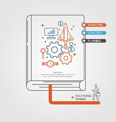 Vocational Training Infographics Book vector