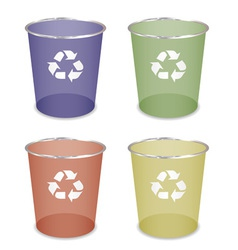 waste bin vector image