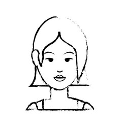 woman cute cartoon vector image