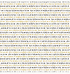 yellow and black abstract drawn cryptic lines vector image