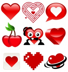 heart designs vector image vector image