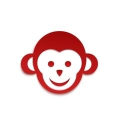 Monkey icon simple logo design vector