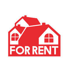 simple red property rent vector image