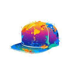 splash of watercolors baseball cap vector image