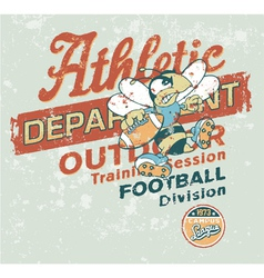 Vintage Athletic department with wasp character vector image vector image