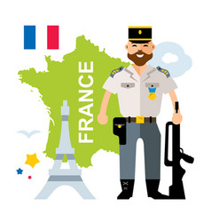 france police flat style colorful cartoon vector image vector image