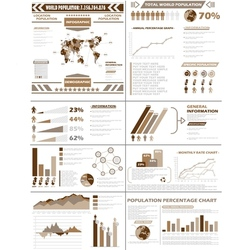 INFOGRAPHIC DEMOGRAPHICS POPULATION BROWN vector image vector image