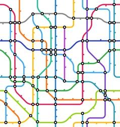 metro scheme seamless background vector image vector image